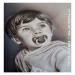 mio nipote, 3 anni, aerografia su cartoncino, cm.40x60 (My nephew, 3 years, airbrushing on cardboard, cm.40x60)