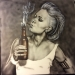 Airbrush painting on canvas