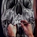 ▶ Airbrushing a Chrome Skull-Stage 2