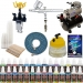 $177 for DUAL-ACTION AIRBRUSH KIT Air Compressor 24 US Art Supply Paint Color Set Gift