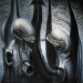 ORIGINAL H.R. GIGER AIRBRUSH PAINTINGS, SKETCHES,
