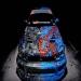 Hintergrund Subaru, Airbrush Fisch