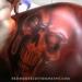 ▶ RedHouse Custom Paint, Inc. Airbrushing a blazing skull
