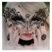 Maria Amanda Schaub, gothic model, airbrush on paper