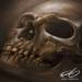 """Skull""Airbrush painting. Acrylics on illustration board.Originalsize: 50x70 cm (approx. 20x27,5 inches.)© 2013 Roger Thomasson"