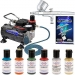 MASTER #AIRBRUSH #CAKE DECORATING KIT Air Compressor 6 Color Food Coloring Set