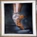 Ballerina Airbrush on canvas.