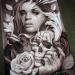 Airbrush on metal panel
