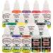 $24.95 12 - 1 oz - #Color Custom Body Art #Airbrush Paint and #Set Kit Fingernail Polish Stencil