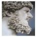 busto marmoreo di epoca romana, aerografia su cartoncino