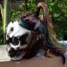 Cool! #Skull DOT Helmet Ponytail Rainbow Hair Custom Helmet Goro Style Airbrush – Custom Airbrush Helmet