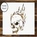 Skull Stencil, Skull Stencil, Card making, Airbrush, Craft Stencil - FuriousAirbrush.com - Airbrush and Art News
