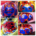 this skateboard helmet was hand-painted in acrylics, I donated it to Kids for Cancer