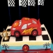 ▶ Cars Themed Fondant Cake- my third version - Yummy!