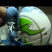 ▶ Brainshell - Insane custom airbrush paint on Cookie helmet - YouTube