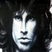 Jim Morrison Acrilyc on cardboard