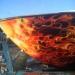 detalle lancha efecto fuego en la proa, aerografiada por nixa arte y aerografia   lwww.facebook.com/pages/nixa-arte-y-aerografia/222640651124798?ref=h
