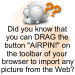 """JustAirbrush.com - Tips - Use the """"J"""" Button and share your favorite Airbrush Images in seconds!"""