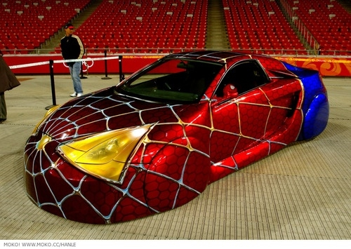 Strange Spiderman Custom Car Spidey Car Incredible Paint Job