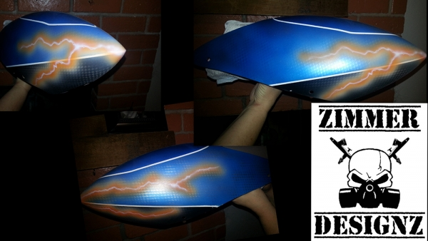 Airbrushed RC helicopter canopy
