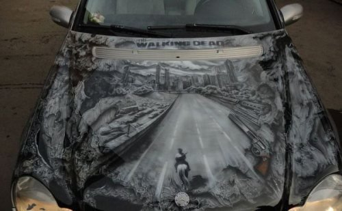 'Walking Dead' themed car