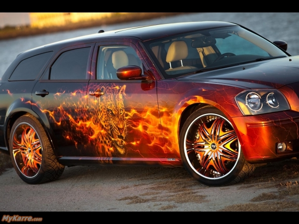Dodge Cats Roar Magnum 2005 Airbrush