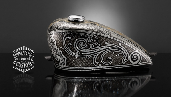 """Tank Harley-Davidson """"Old School n°1"""" - Unexpected Custom - Fine Arts Unlimited ...for Bikers"""