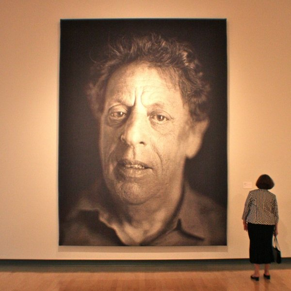 Philip Glass by Chuck Close by Kevin Dooley | Flickr - Fotosharing!