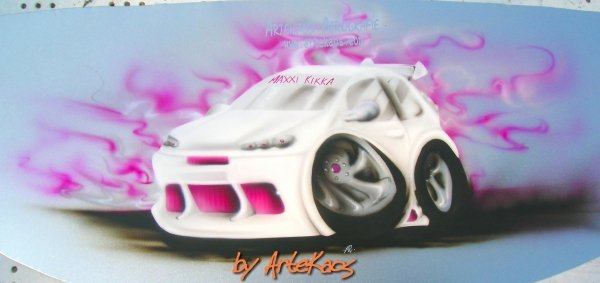 """Maxi Kikka"" - Caricature Tuning Car"