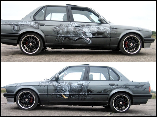 BMW E30 AIRBRUSH CUSTOM PAINTING
