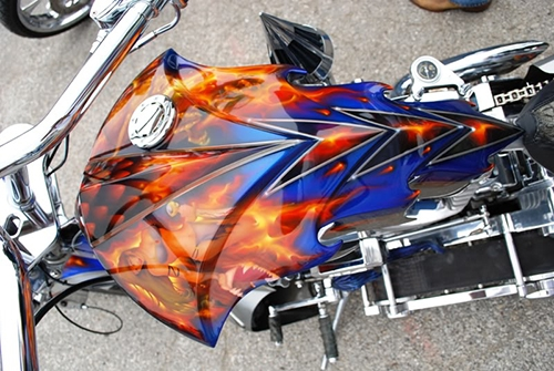 Custom Tank Art | Kabes Customs Biker