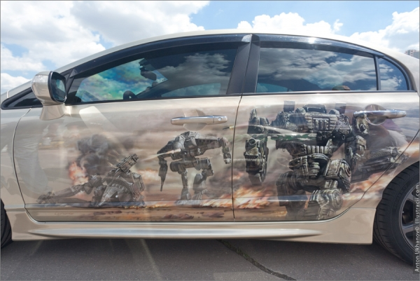 Incredible airbrushed cars