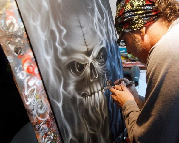 Airbrush artistry: His canvas is all around