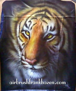 Tiger Airbrushed Denim Jacket