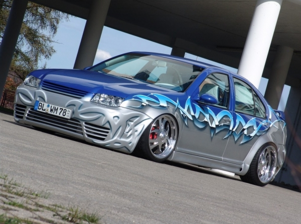 Volkswagen Bora Tuning - Graphics and airbrush