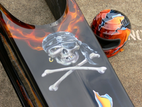Airbrush Pirate Dragster