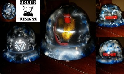 Iron Man hard hat by ZimmerDesignZ.com