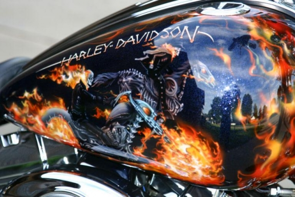 Let's see your ghoulish paint jobs - Harley Davidson Forums