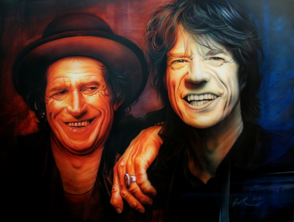 Mick and Keith,artwork by Daniel Power