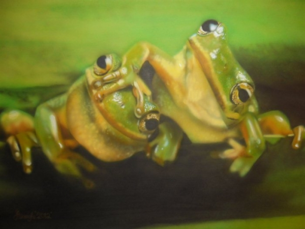 airbrush - Frogs by Julia Tapp