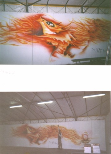 Airbrush on wall, by ArteKaos Airbrush