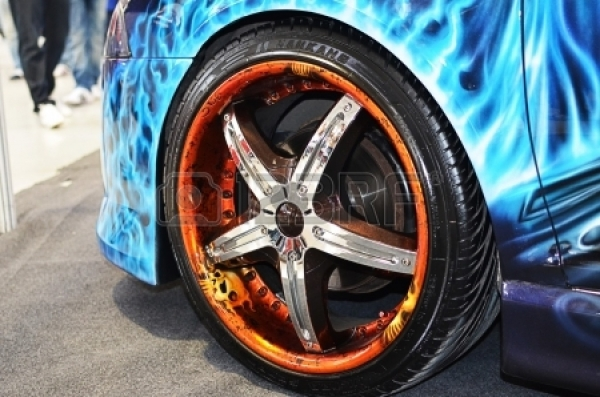 Bucharest, Romania, 2012 - Custom Airbrushed Rims.