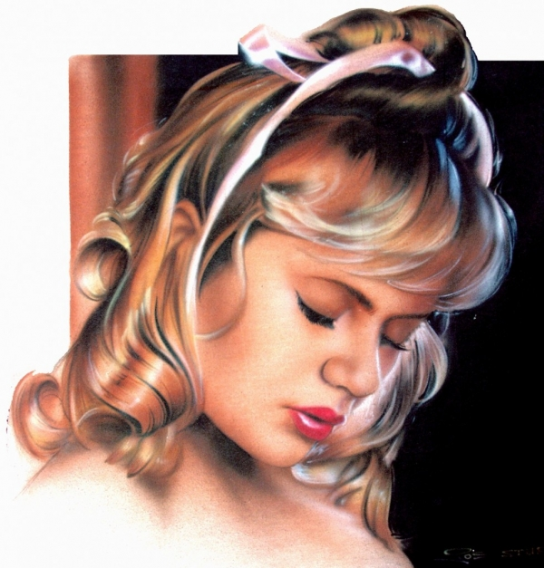 Portrait of Young Woman | T-Shirt Joe the Airbrush Wizard