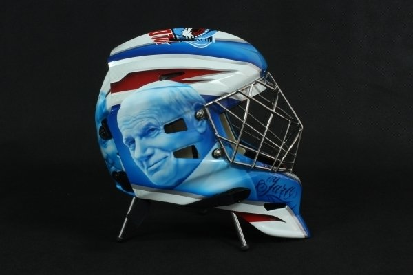 Awesome Airbrush Hockey Helmet