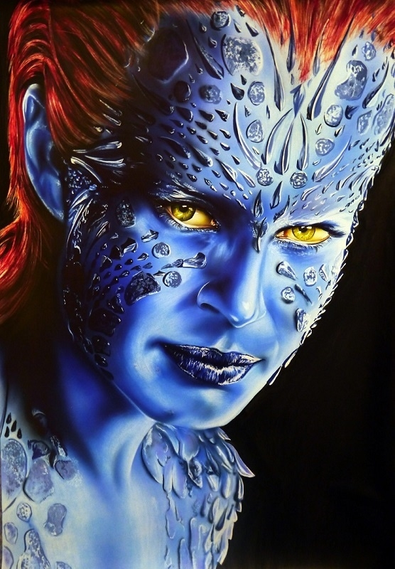 """""""Mystique"""" Step by step article published in the """"Kustom Art Magazine"""" 3 part article"""