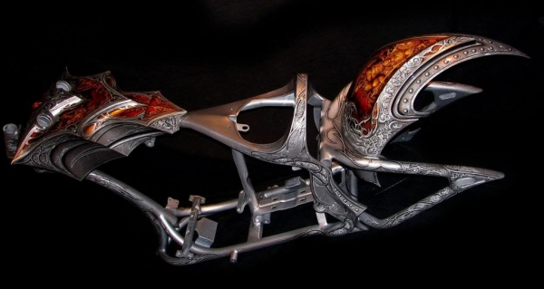 Full rebuilt - Airbrush  on Harley Davidson by Fitto