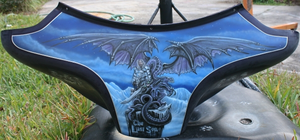 dragon and knight on fairing