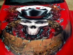 Custom Chevy SSR artwork
