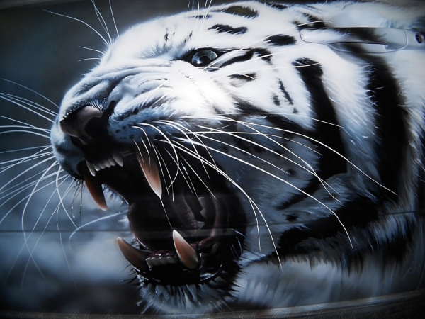 Tiger airbrushing by aiRMaster777