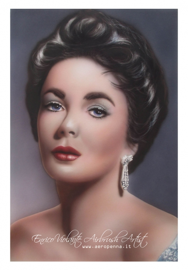 Elizabeth T. -  airbrush on paper